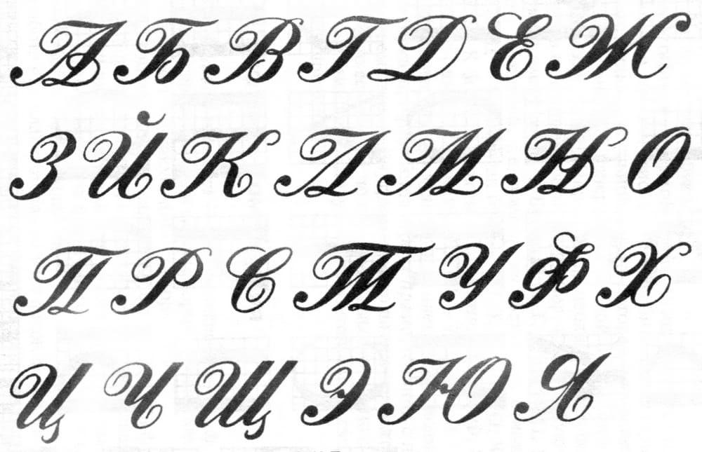 красивые буквы для оформления русские с завитушками картинки